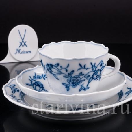 Фарфоровое Чайное трио, Meissen, Германия, вт. пол. 20 века.