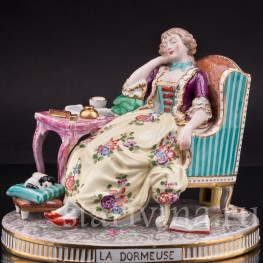 Фарфоровая статуэтка Спящая, Porcelaine de Paris, Франция, 19 в.